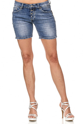 Stylische Jeansshorts Wash-Out-Effekt